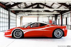 Ferrari 458 Challenge Race Car - Not sure how it would handle Fruit Ridge on a snowy day, but it sure is pretty!