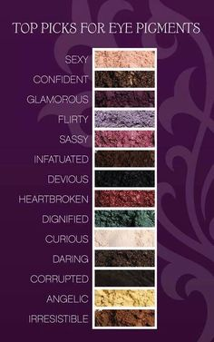 Some of our most popular and amazing Moodstruck Mineral Pigments! Use as an eye color, eye liner, lip color, in your hair, or on your nails!
