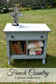 mycreativedays: French Country Cabinet Makeover (Themed Furniture Makeover Day}
