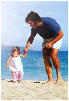 Elvis and his daughter Lisa Marie Presley