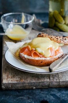 Bagel sandwich with smoked salmon, poached egg and homemade hollandaise sauce. Reserved for special occasions or Sundays. The perfect breakfast in our book.