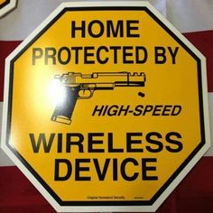 Cute sign for gun owners :) Home defense starts with a light hearted warning and ends with hollow points and firearms. Cute Signs, Funny Signs, Funny Memes, Gun Quotes, By Any Means Necessary, Home Protection, Military Humor, Home Defense, Home Quotes And Sayings