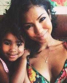 beautifully mixed- Jhene Aiko and her daughter Namiko.