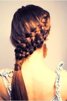 Double Dutch diagonal braid hairstyle. #hair #braid