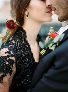 Black wedding attire: http://www.stylemepretty.com/little-black-book-blog/2015/02/04/swedish-seaside-sinter-wedding-inspiration/ | Photography: 2 Brides - http://2brides.se/