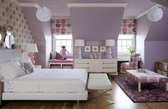 girls room color scheme ideas with lavender