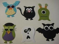 Stampin Up Owl Scrapbook Paper Piece Halloween Monsters | eBay