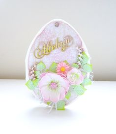Easter egg cards handmade scrapbooking foamiran flowers