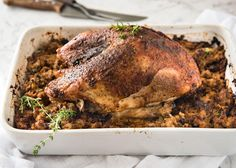 Two dishes in one roasting pan! A juicy Cajun baked turkey breast with a gorgeous flavour packed Cajun stuffing / dressing. Big flavours, very easy! Thanksgiving Recipes, Thanksgiving Turkey, Holiday Recipes, Chef Recipes, Dinner Recipes, Cooking Recipes, Dry Brine Turkey, Roasted Apples, Slow Cooker Turkey