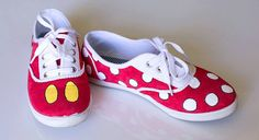 Disney Mickey and Minnie Mouse Hand Painted Shoes, Toms, Keds, or Vans on Etsy, $65.00