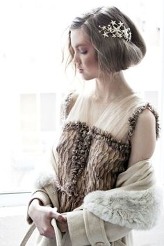 I love this star headpiece from rodarte fall 2012 show! #fashion, #accessories, #headpiece