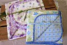 Crochet Edged Baby Blankets
