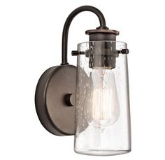 View the Kichler 45457 Braelyn 1 Light Industrial Wall Sconce at LightingDirect.com.