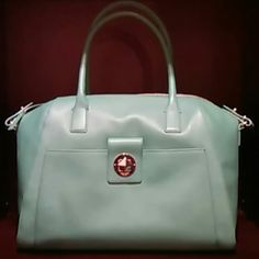 Kate Spade mint purse Mint color purse large Catalina - chrystie street. Very pretty big bag. kate spade Bags Shoulder Bags