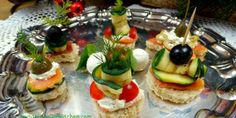 Party canapes