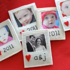 Great #DIY tutorial for these faux Polaroid ornaments. Love!