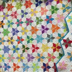 60 degree diamonds Star Quilt, #quiltmarket #underthegardenmoon