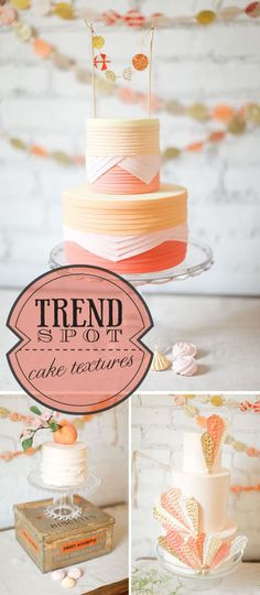 different fondant cake textures? I think I've just died and gone to heaven!