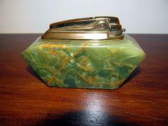 Ronson Petrol Table Lighter Marble Art Deco Style Vintage | eBay