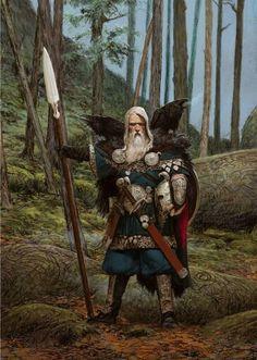 Raven Clan Leader. Blood Rage artwork by Adrian Smith.
