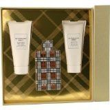 BURBERRY BRIT by Burberry Gift Set for WOMEN: EAU DE PARFUM SPRAY 3.3 OZ & BODY LOTION 3.4 OZ & BODY WASH 3.4 OZ by Burberry. $79.99. Design House: Burberry. Fragrance Notes: A marvelous blend of almonds, limes and pears, with soft florals and vanilla.. Recommended Use: daytime. BURBERRY BRIT by Burberry for WOMEN EAU DE PARFUM SPRAY 3.3 OZ & BODY LOTION 3.4 OZ & BODY WASH 3.4 OZ Launched by the design house of Burberry in 2003, BURBERRY BRIT by Burberry possesses a blend...
