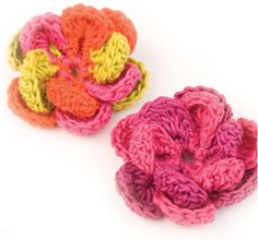 10 Beautiful Crochet Flowers To Make Love Crochet, Beautiful Crochet, Crochet Hooks, Knit Crochet, Crochet Crafts, Yarn Crafts, Crochet Projects, Crochet Motifs, Crochet Flower Patterns