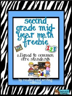 FREEBIE Second Grade Mid-Year Math Page Math, Arithmetic  Math, Arithmetic  Free 3 pages 1st, 2nd, 3rd Worksheets, ActivitiesWorksheets, Activities  One page with clock practice and Whats my Rule boxes. Aligned with Everyday Math Unit 6 and the Common Core.