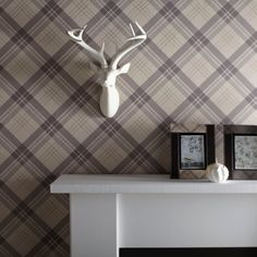 Fairburn is a lovely beige tartan wallpaper from the Arthouse Lochs and Lagoons collection. A soft beige background with subtle tones of brown, beige and gold makes this an ideal wallpaper for any room. Tartan Wallpaper, Wallpaper, Scottish Decor, Snug Room, Tartan Decor, Wallpaper Living Room, Vinyl Wallpaper, Wall Coverings, Home Art