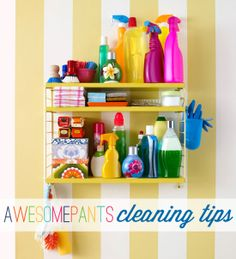 IHeart Organizing: May Mini-Challenge: Awesomepants Cleaning Tips!