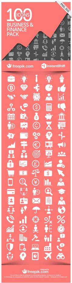 Free vectors for infographics: business and finance icons
