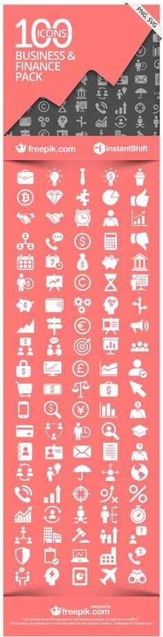 FinBiz - The Free Business & Finance Icon Set via @InstantShift Web Design Magazine Web Design Magazine and @Freepik