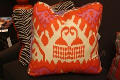 Festoni-Salon at the Suites at Market Square.  Awesome color palette of Coral and Lavender in these custom made pillows by Festoni. Could be the inspiraiton for my next project! #hpmkt