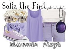 """""""Sofia the First"""" by pickedadaytofly ❤ liked on Polyvore featuring Jane Norman, White House Black Market, Reeds Jewelers, Candie's, Uniqlo, Converse and Juicy Couture"""