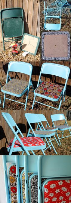 Forrar viejas sillas./ Cover old chairs. #recycledesign