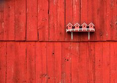 Bird Houses on a rustic barn outside of Stoughton, Wisconsin | Flickr