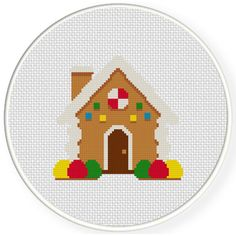 FREE for July 1st 2016 Only - Gingerbread House Cross Stitch Pattern