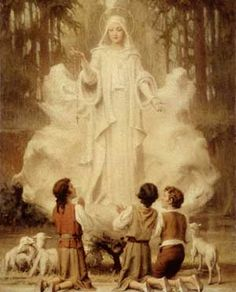 """July 13, 1917 Mary came to Fatima...to save souls from Hell. Our Lady lowered Her hands and suddenly, the three children saw a hole in the ground.  That hole...was like a sea of fire in which she saw the forms of humans, men and women, shouting and crying in despair. And she saw demons in the forms of ugly animals. The vision was so horrible that the children feared that they would die from fright.  And Mary said to the three children, """"You have seen Hell where the souls of poor sinners go."""""""
