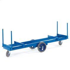 GTARDO.DE:  Langmaterialwagen, Tragkraft 2t / 2000 kg, Ladefläche 2000x600 mm, Maße 2000x720 mm 796,00 €