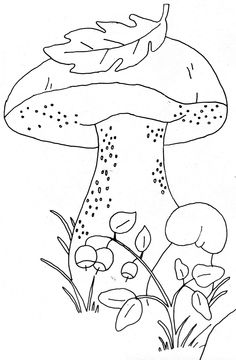 Free pattern at ninimakes. Fall Coloring Pages, Printable Coloring Pages, Coloring Pages For Kids, Coloring Books, Applique Templates, Applique Patterns, Applique Designs, Mushroom Drawing, Autumn Crafts