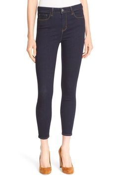 "Ankle-grazing skinny jeans feature all the classic details from five pockets to a high-waisted silhouette that flaunts your curves from every angle. Inseam 26"", Leg Opening 9 ½"" Zip fly with button closure. Five-pocket style. 46% cotton, 29% rayon, 15% lyocell, 6% polyester, 4% spandex. By L'AGENCE; made in the USA of imported fabric. Color: Midnight  Machine wash with cold water, separately or with similar colors, turn inside out, use mild detergent, no bleach, hang dry, do not tumble dry…"