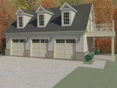 1000 images about garages on pinterest detached garage for Three car garage with loft apartment