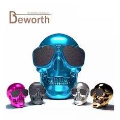 NFC Bluetooth Speaker Sunglass Skull Head Portable Wireless Mobile Loud Subwoofer 8W Super Bass USB Aux In 3.5mm Audio Jack Cool  Price: 880.05 & FREE Shipping #computers #shopping #electronics #home #garden #LED #mobiles #rc #security #toys #bargain #coolstuff |#headphones #bluetooth #gifts #xmas #happybirthday #fun