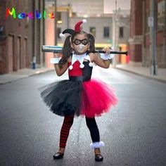 Harley Quinn Children Cosplay Costume Girls Tutu Dress with Headband Kids Party Dresses for Birthday Halloween Christmas Summer We offers a wide selection of trendy style women's clothing. Affordable prices on new tops, dresses, outerwear and more. Baby Tutu Dresses, Dresses Kids Girl, Tutus For Girls, Girls Party Dress, Birthday Dresses, Kids Outfits, Party Dresses, Kids Tutu, Long Dresses