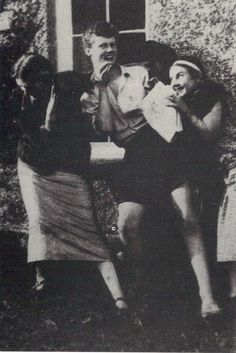 VW (left), with Quentin Bell and Lydia Lopokova