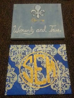 Yeah, I'm crafty. KKG. Backstapled canvas and oil paint.