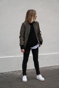 Fashion Cognoscenti Inspiration: Black and Khaki