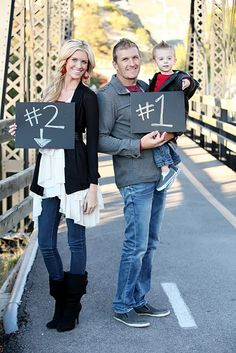 Cute way to announce a pregnancy!! Her blog is adorable, im excited to read more as she become further along in her pregnancy!
