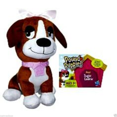 "Hasbro Pound Puppie Sugar Cookie Adorable Mini Brown/White Soft Plush - 6"" Tall  - May 25, 2014 - $39.99 - #FreeShipping"