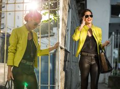 Desafio da Peça-Chave: Jaqueta de couro neon – 3º dia