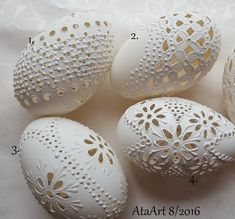 Madeirove husacie, Veľkonočné dekorácie | Artmama.sk Egg Crafts, Easter Crafts, Egg Shell Art, Carved Eggs, Decorative Gourds, Faberge Eggs, Seashell Art, Egg Art, Egg Decorating